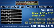 Concrete Stencils Wall Brick 500 SQFT Adhesive @ $245