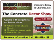The 2013 Concrete Decor show in Charlotte,  NC